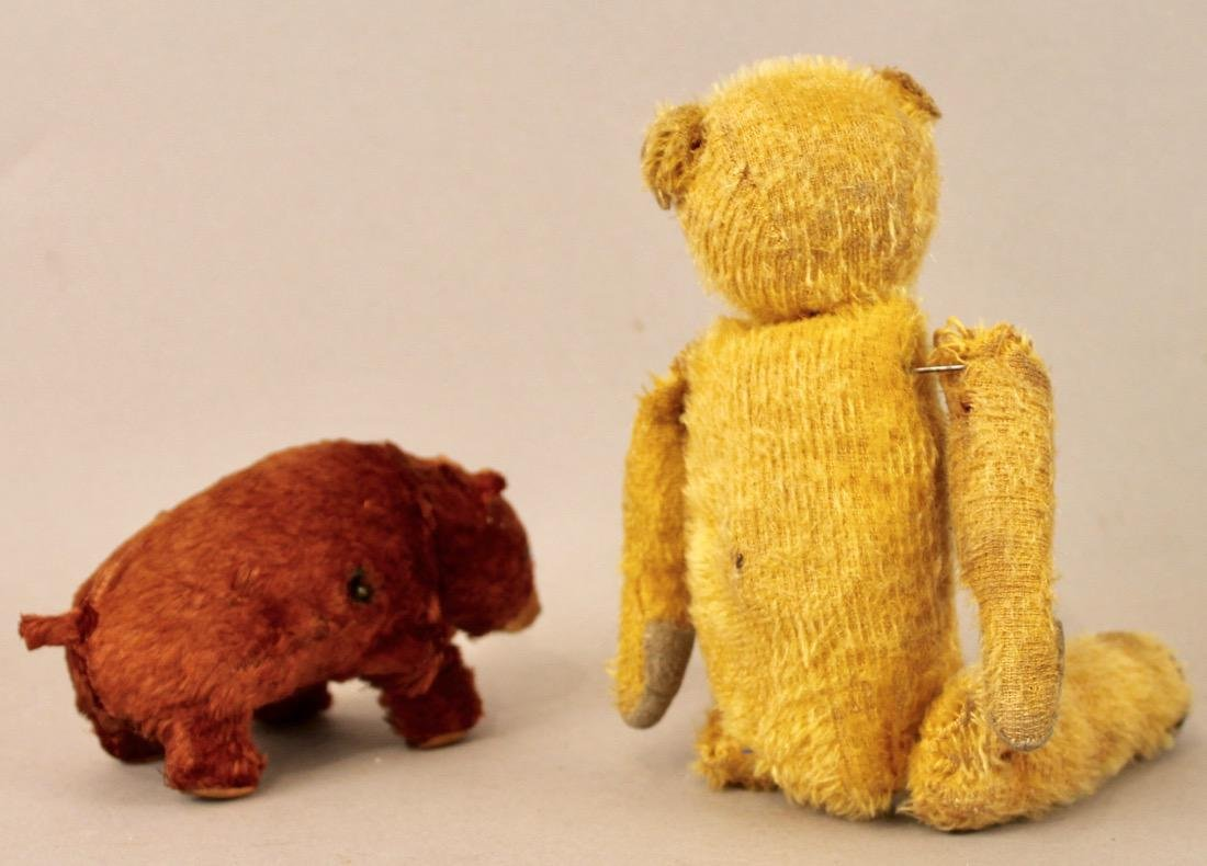 Vintage Teddy Bear and Windup Bear Toy - 2