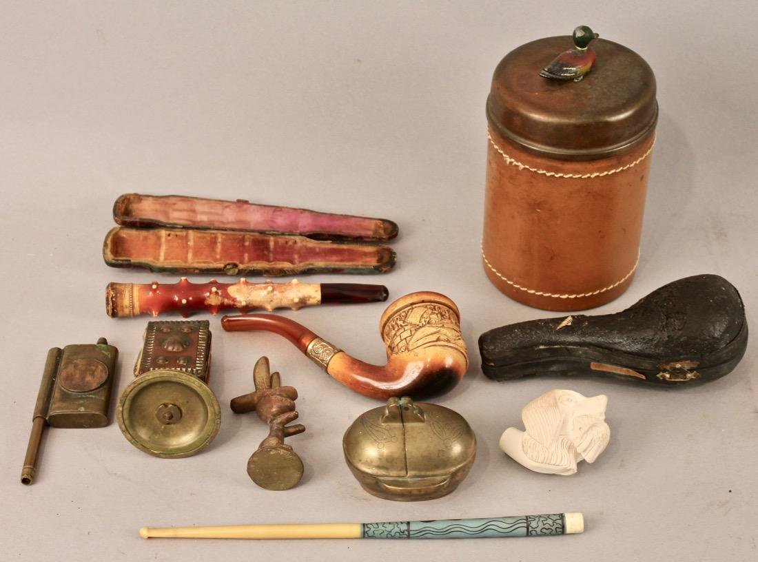 Lot of Tobacco and Smoking Items Meerschaum