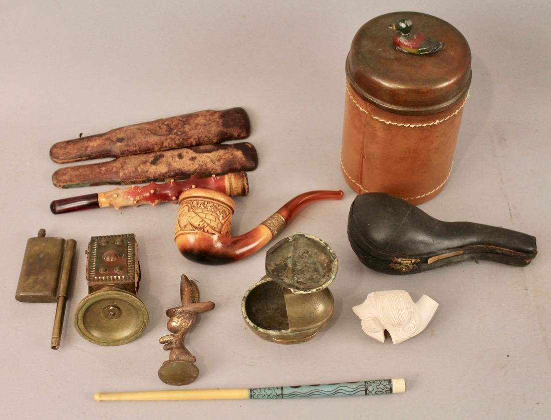 Lot of Tobacco and Smoking Items Meerschaum - 7