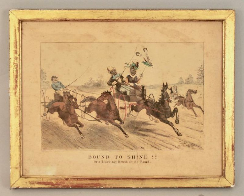 "Currier & Ives ""Bound to Shine"" Print"