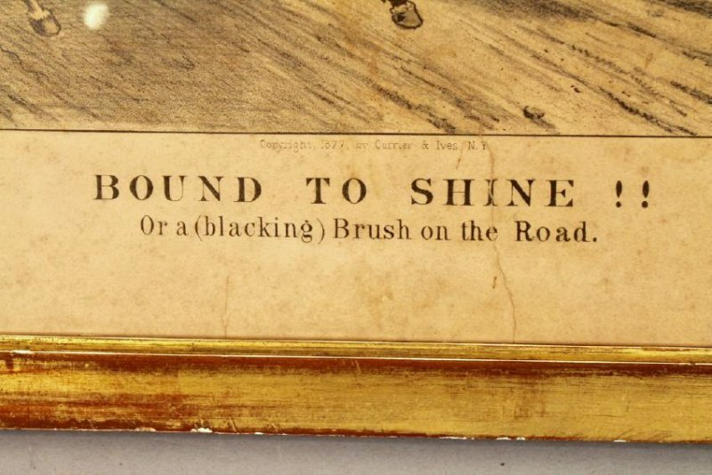 "Currier & Ives ""Bound to Shine"" Print - 3"