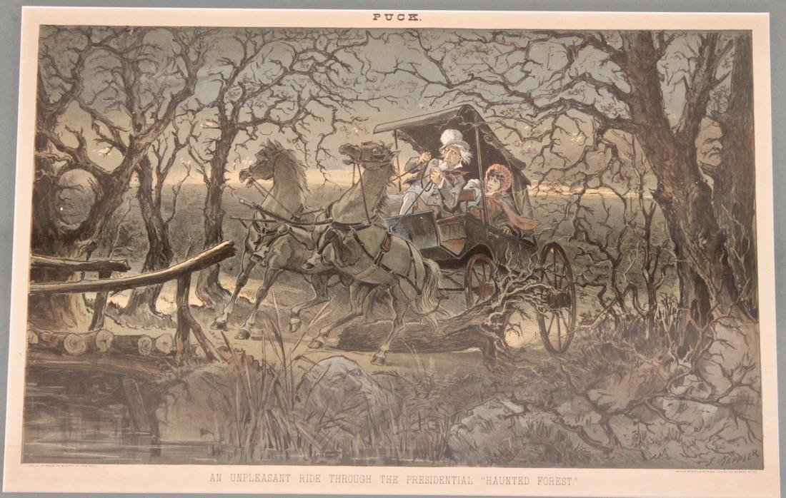 Puck Lithograph Haunted Forest - 2