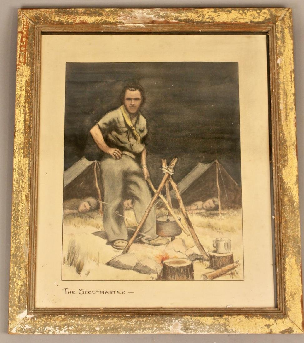 The Scoutmaster Litho