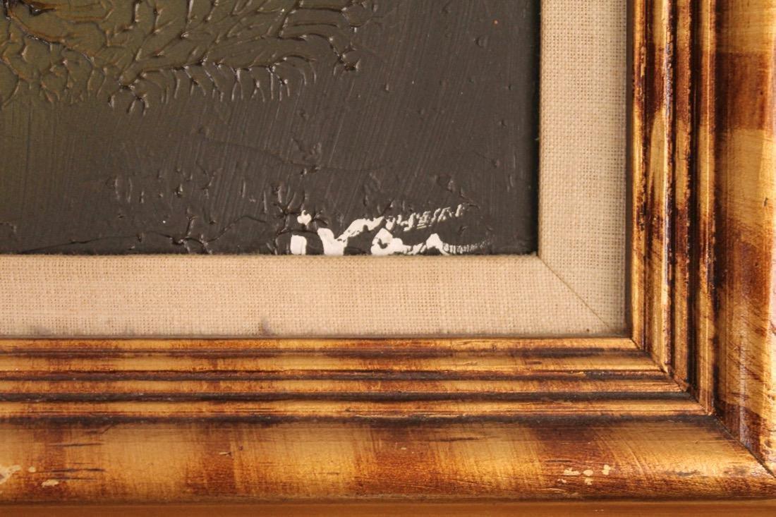 2 Mid Century Acrylic on Canvas signed Ivar - 3