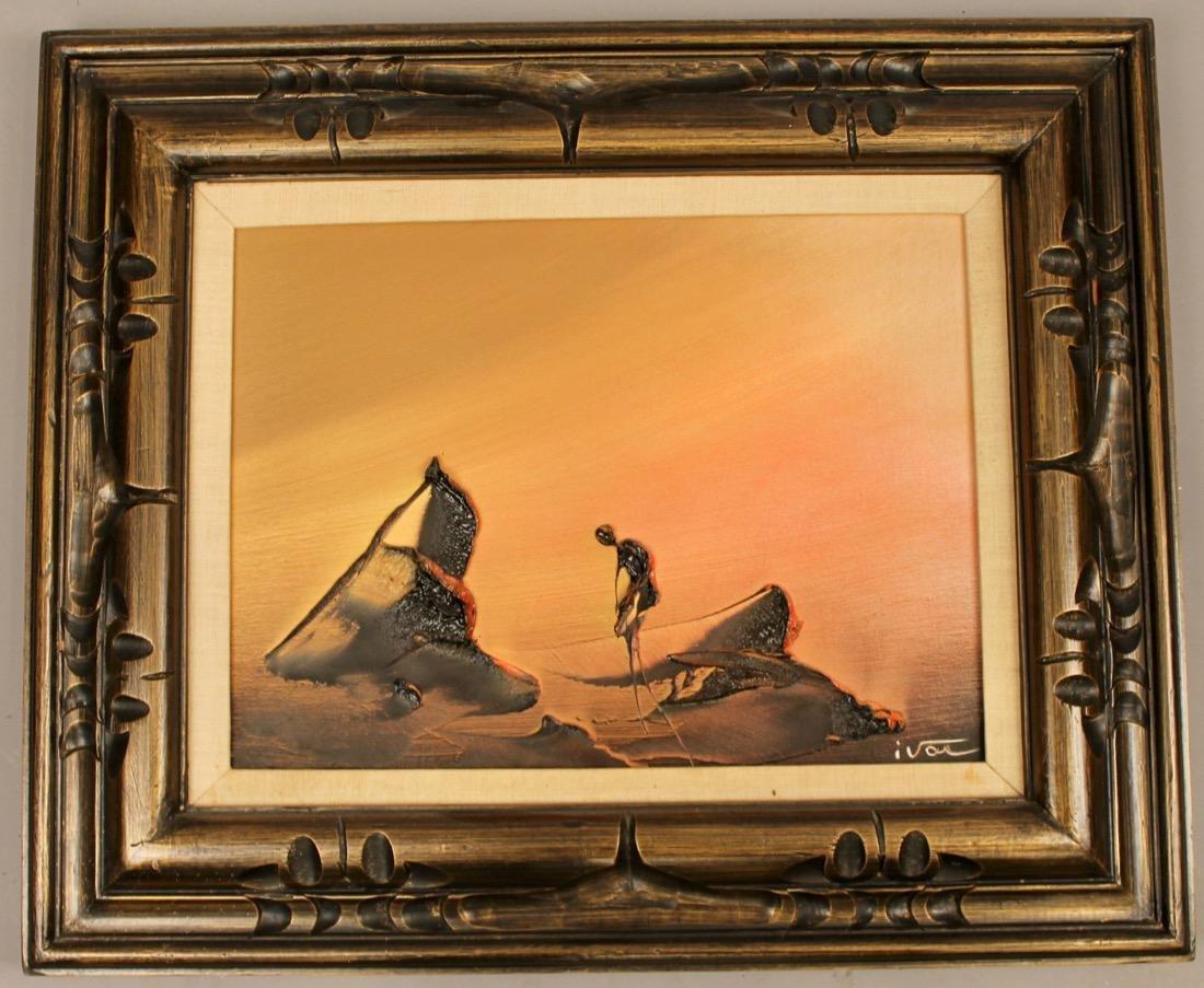 2 Mid Century Acrylic on Canvas signed Ivar - 5