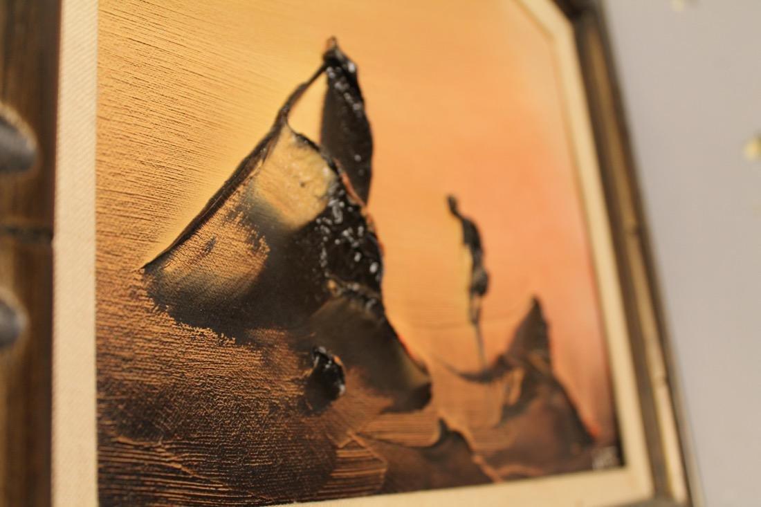 2 Mid Century Acrylic on Canvas signed Ivar - 8