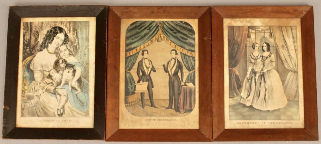 3 Early Engravings Currier, Kellog & Baillie