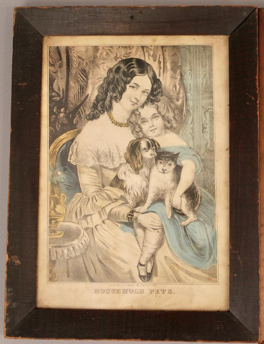 3 Early Engravings Currier, Kellog & Baillie - 2