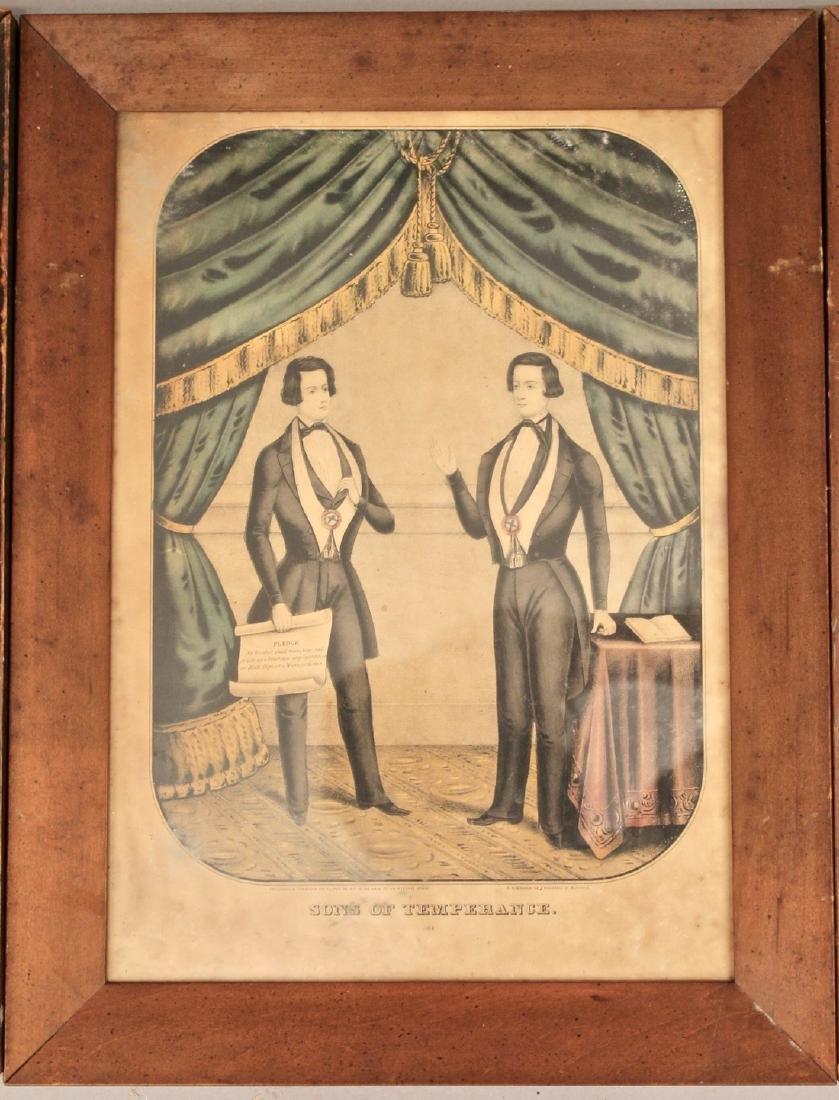 3 Early Engravings Currier, Kellog & Baillie - 3