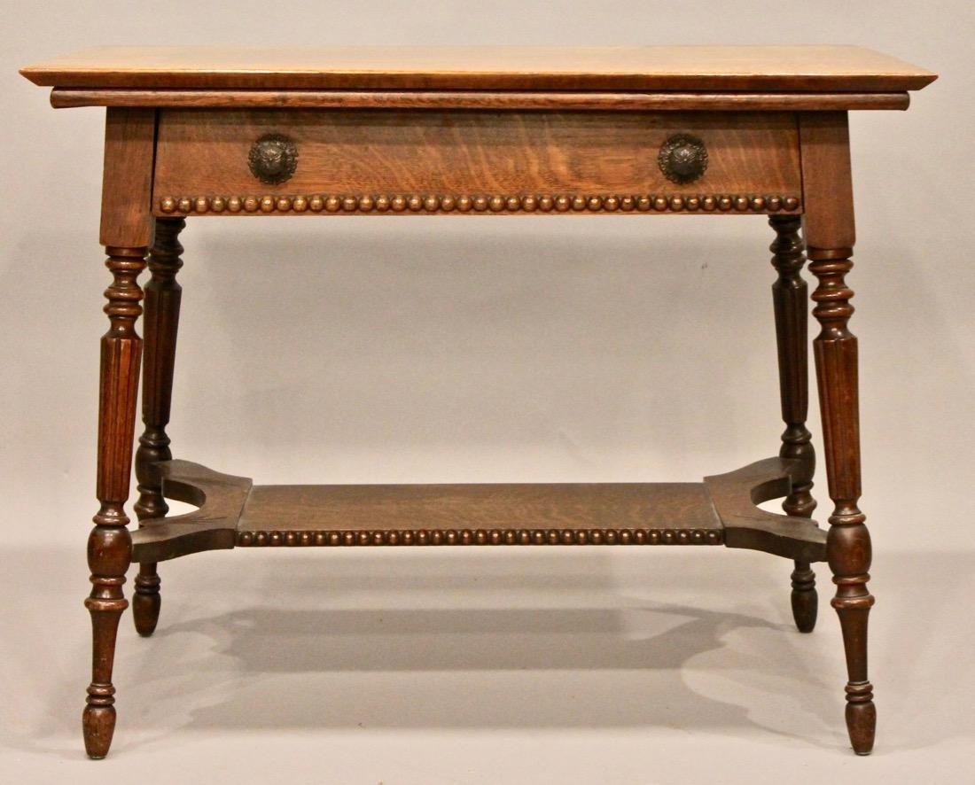 Oak 1 Drawer Library / Desk Table
