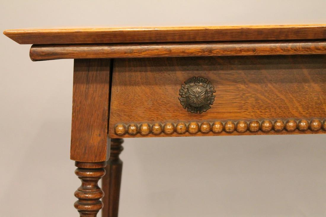 Oak 1 Drawer Library / Desk Table - 2