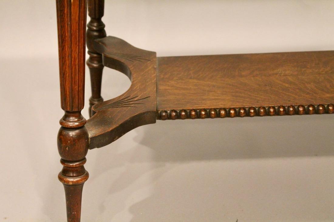 Oak 1 Drawer Library / Desk Table - 3