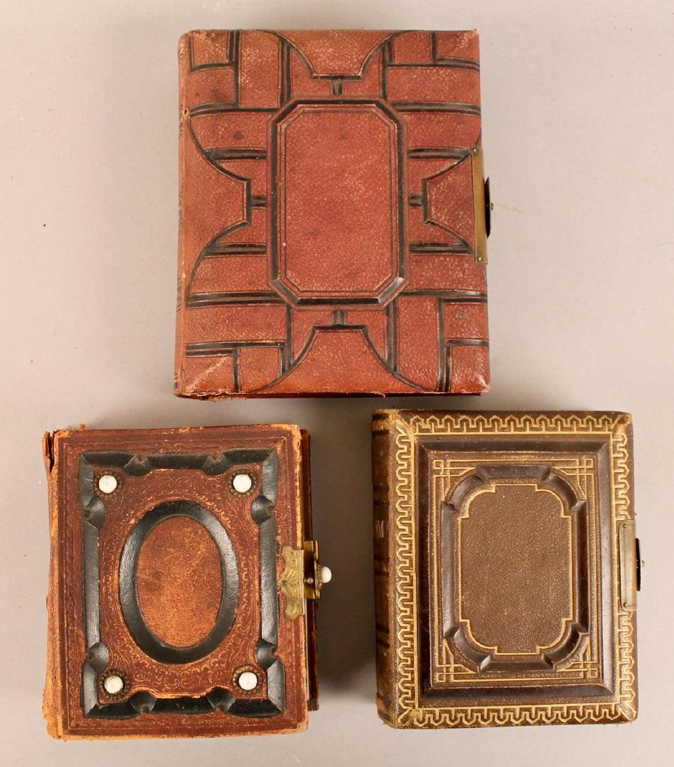 3 19th Century Photo Albums with Tin Types