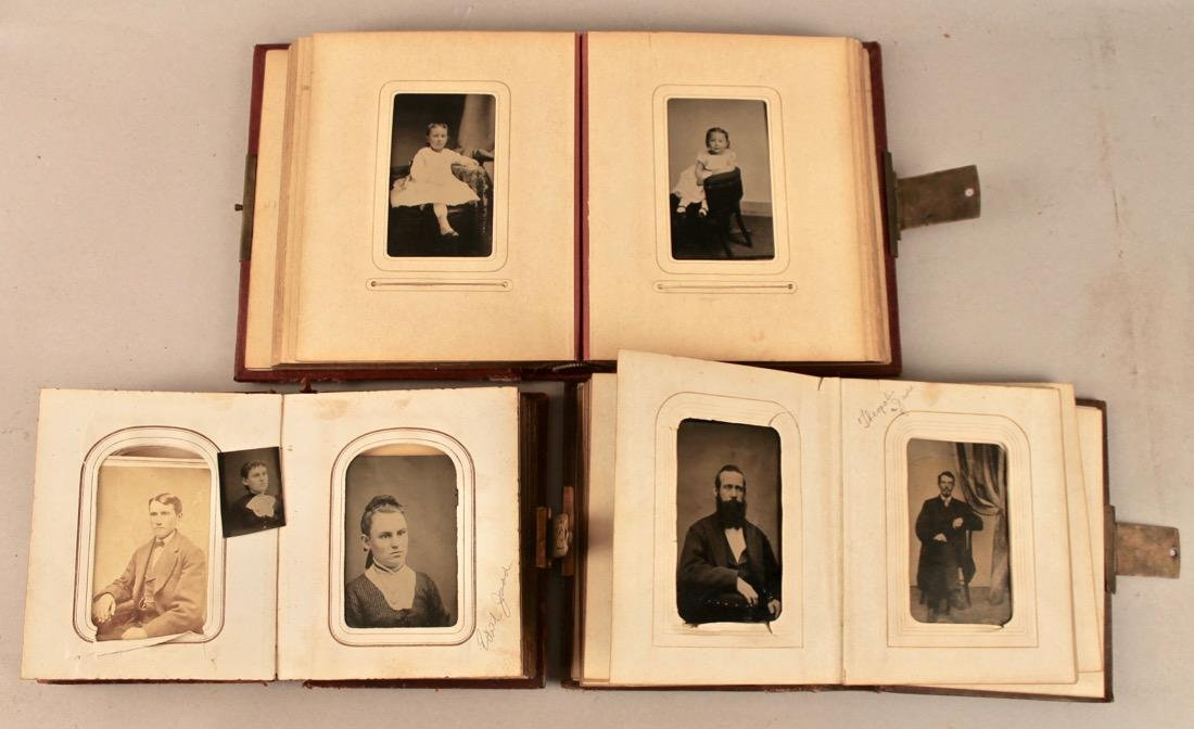 3 19th Century Photo Albums with Tin Types - 2