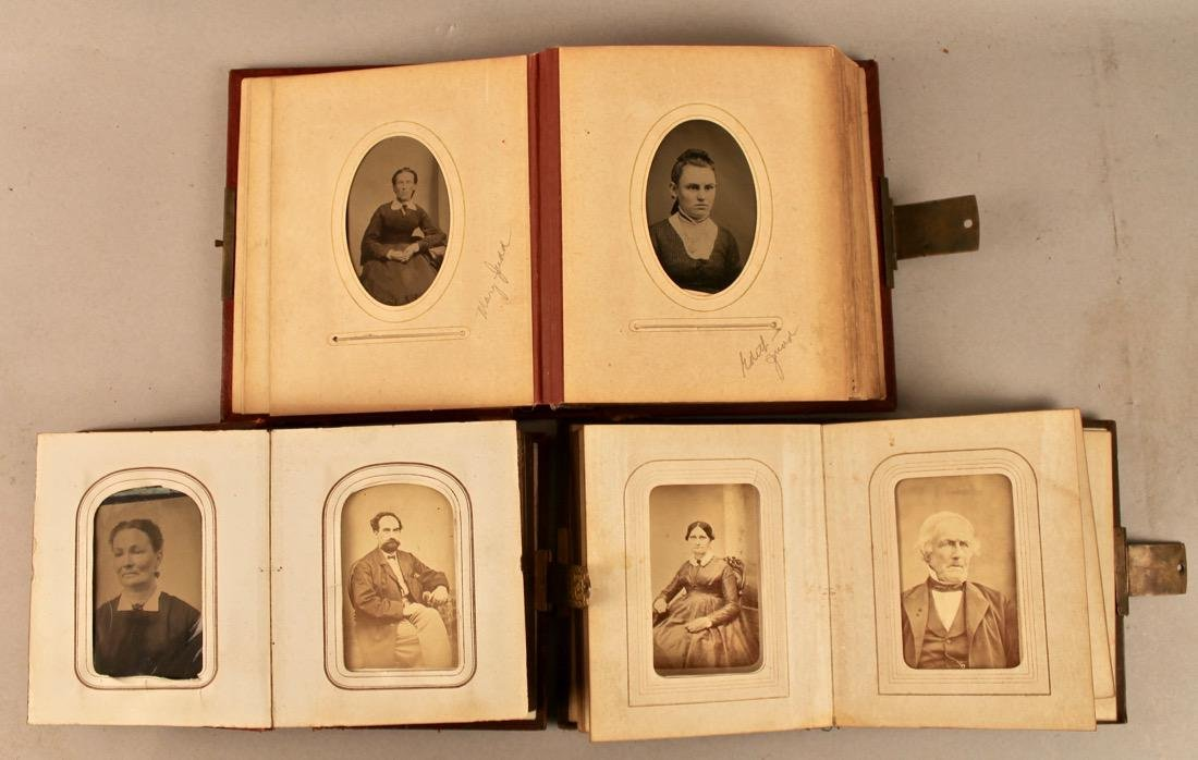 3 19th Century Photo Albums with Tin Types - 3