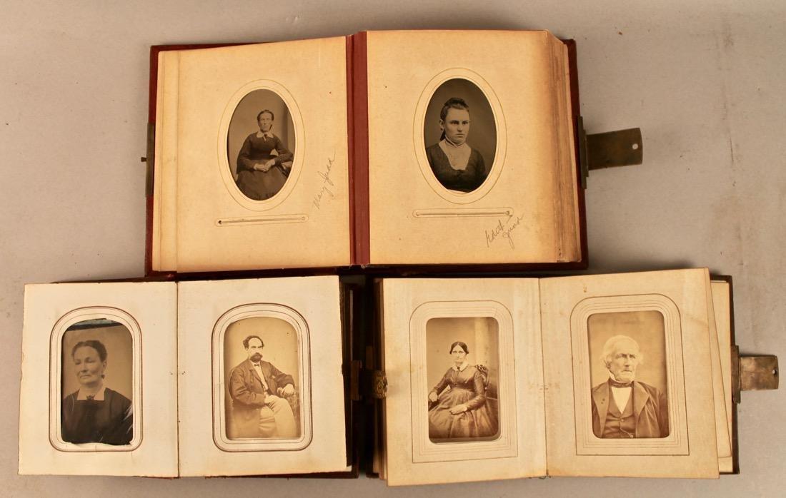 3 19th Century Photo Albums with Tin Types - 3