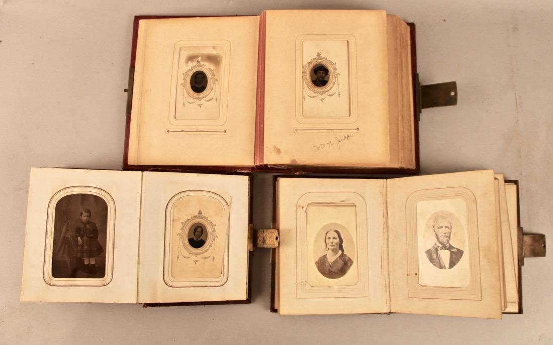 3 19th Century Photo Albums with Tin Types - 4