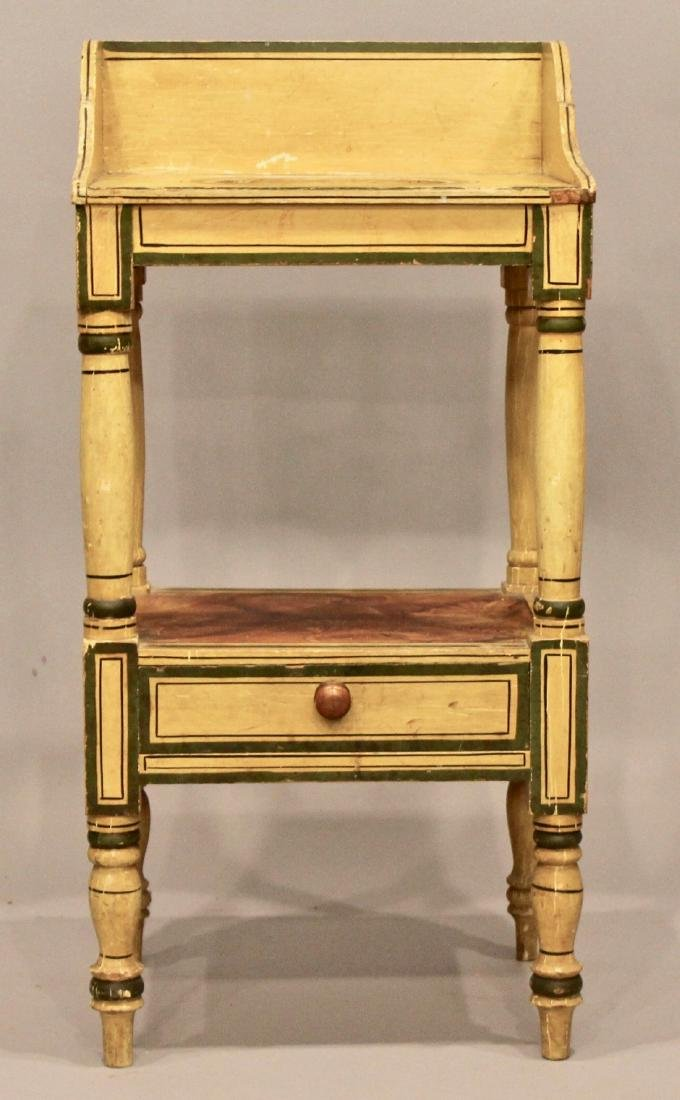 19th Century Paint Decorated Wash Stand