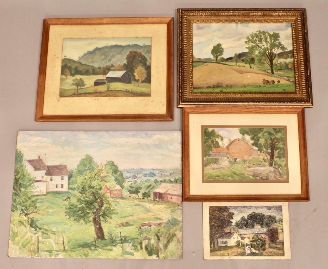 5 George Davidson 1889-1955 Oil Paintings