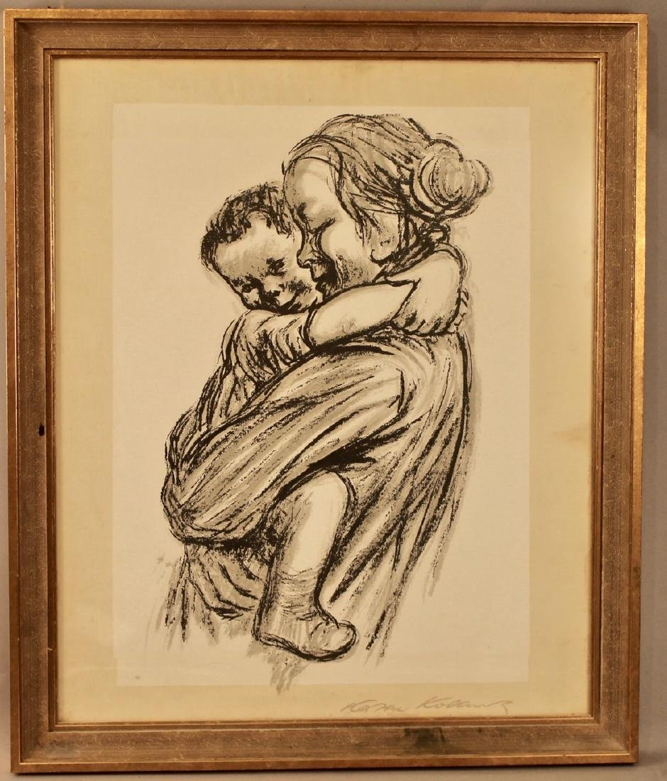 Mother with Child Litho Signed