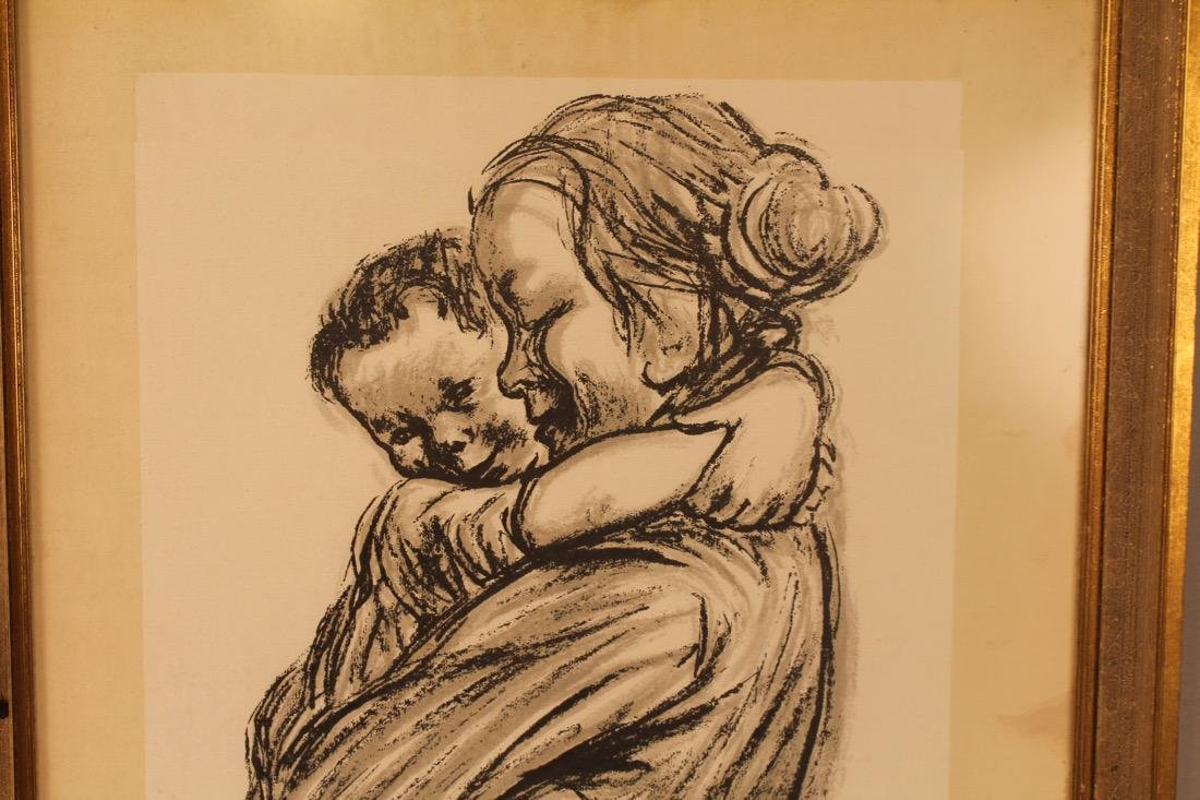 Mother with Child Litho Signed - 3