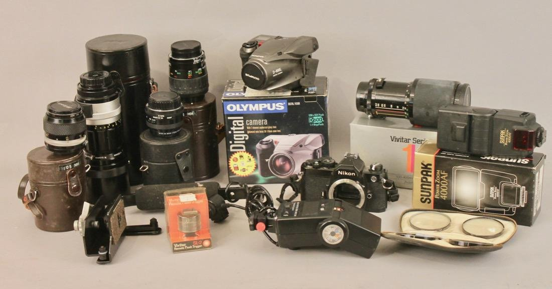 Lot of Cameras, Lenses and Photo Equpiment