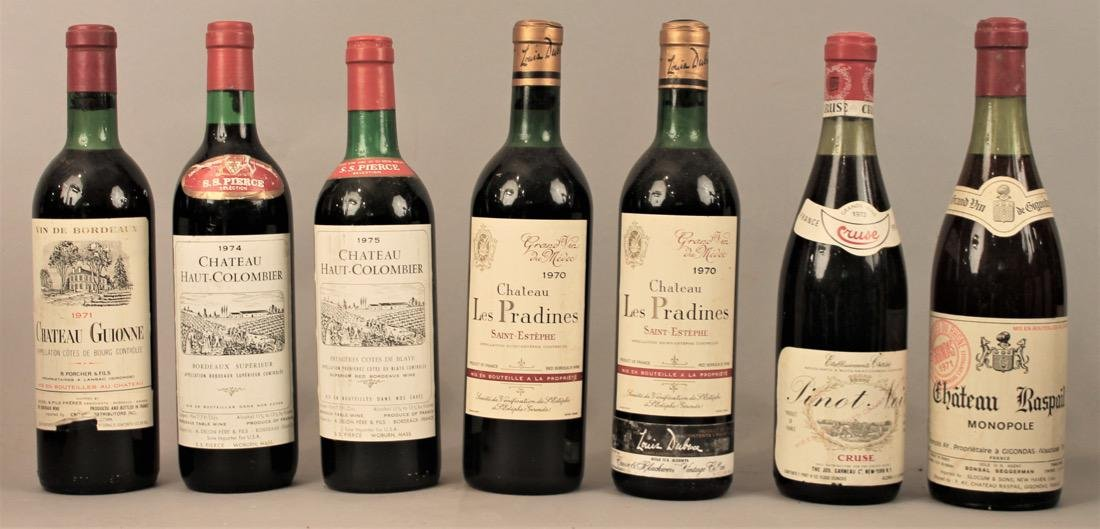 7 Bottles of Vintage Wine
