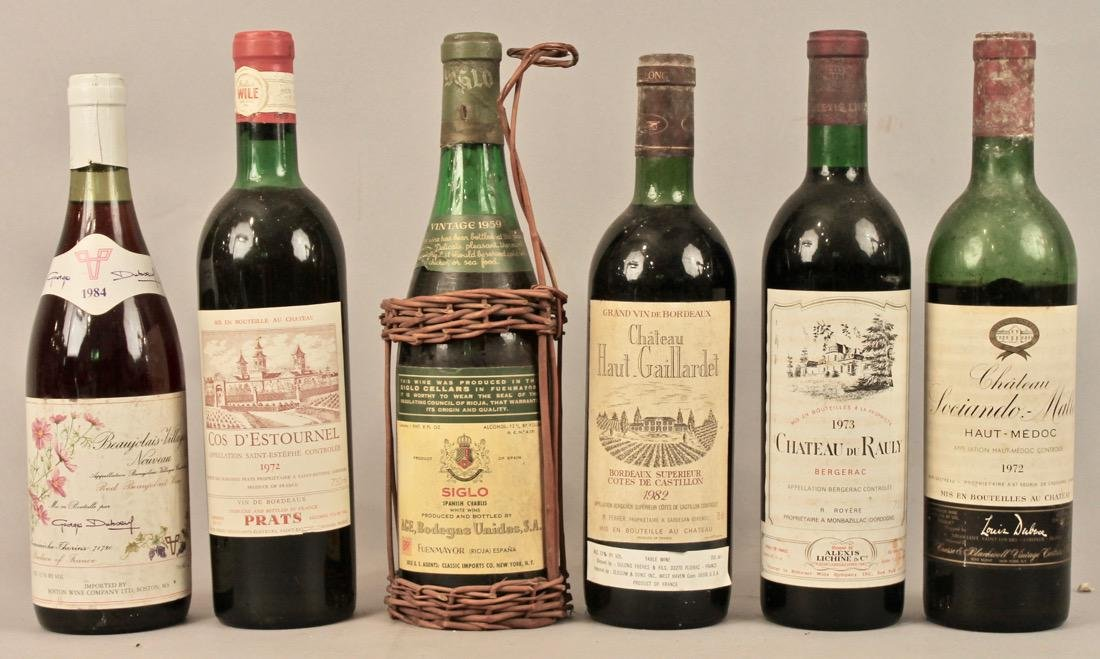 6 Bottles of Vintage Wine