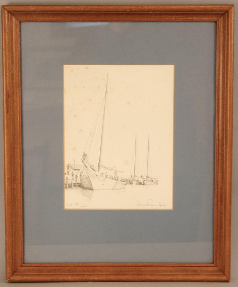 Oyster Fleet Engraving Number 418 of 980