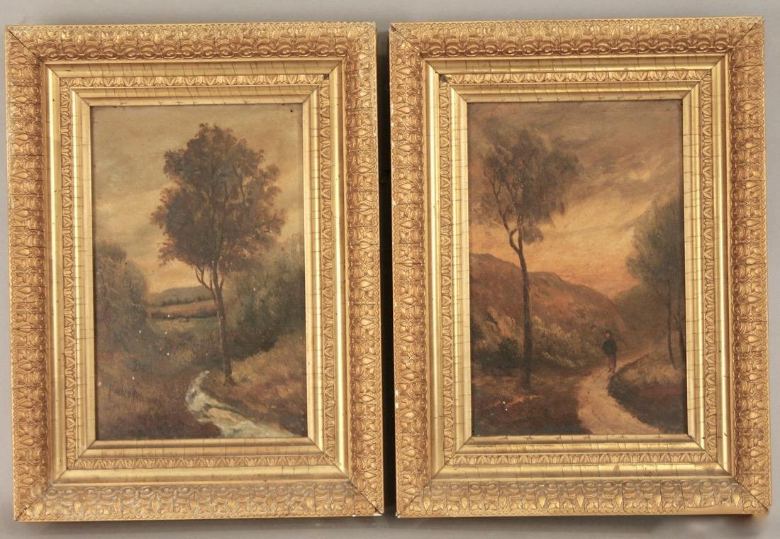 Pair of Small 19th Century Paintings