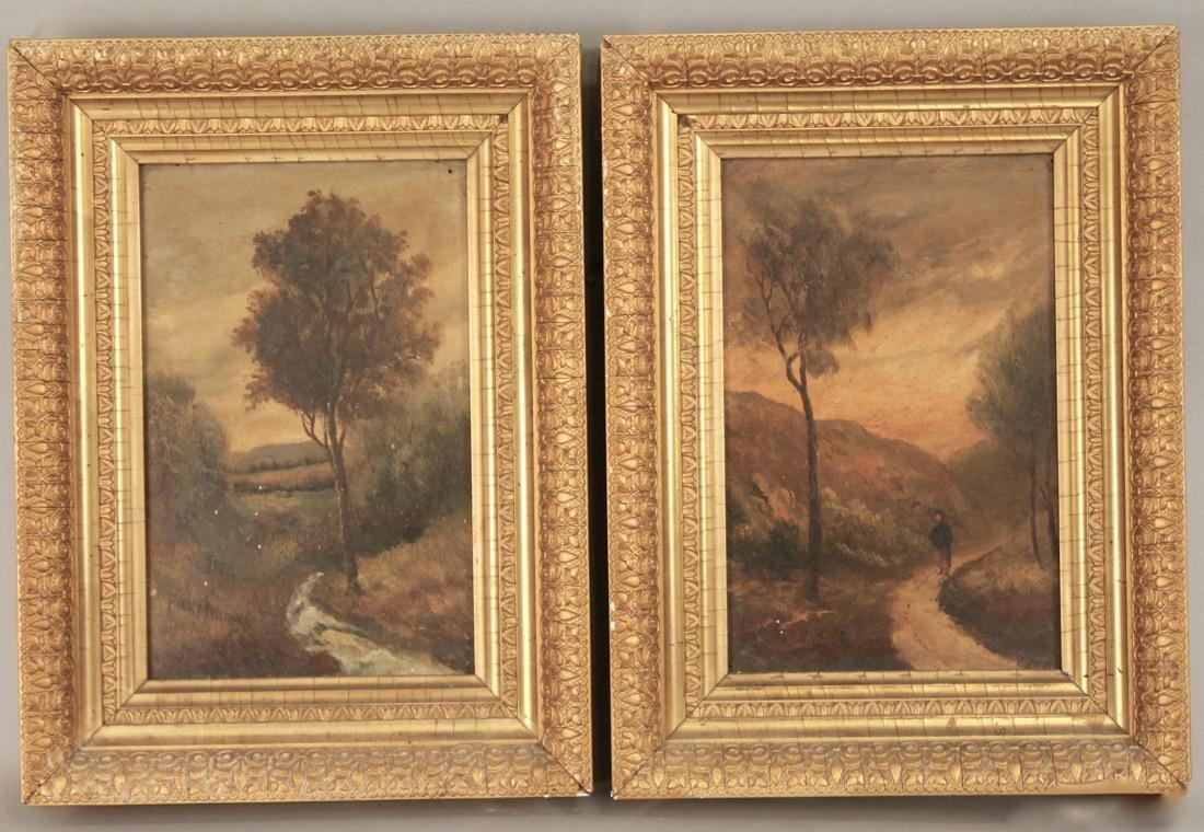 Pair of Small 19th Century Paintings