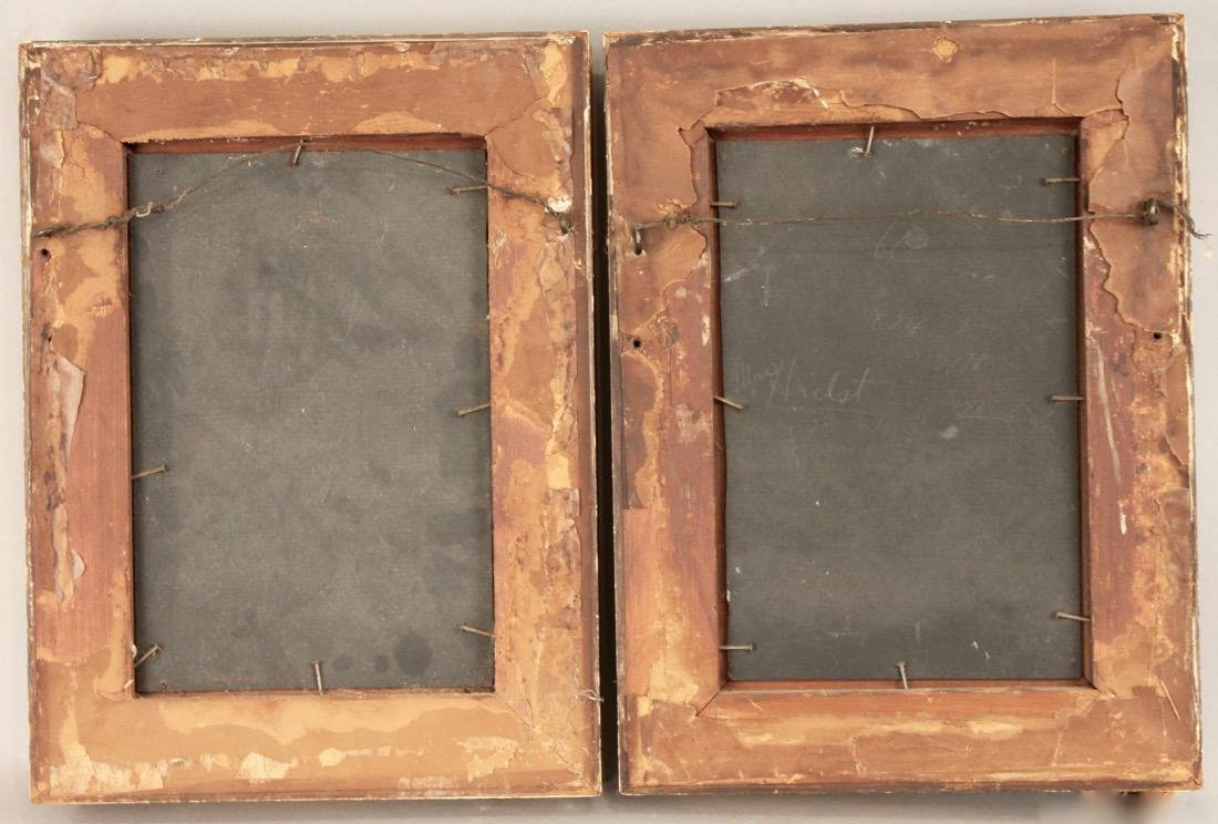 Pair of Small 19th Century Paintings - 5
