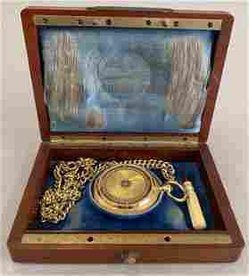 18K Gold Pocket Watch, Charles E Jacot