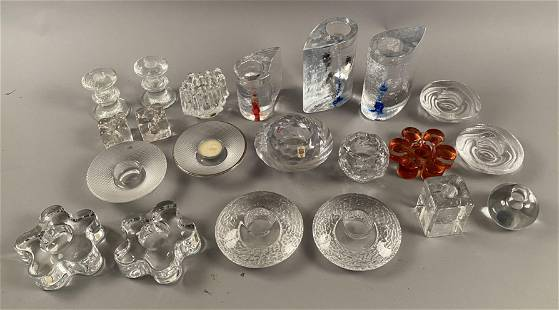 21 pieces Candle Holders, many Scandinavian