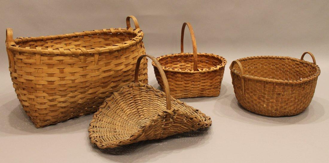 4 Antique Splint Baskets