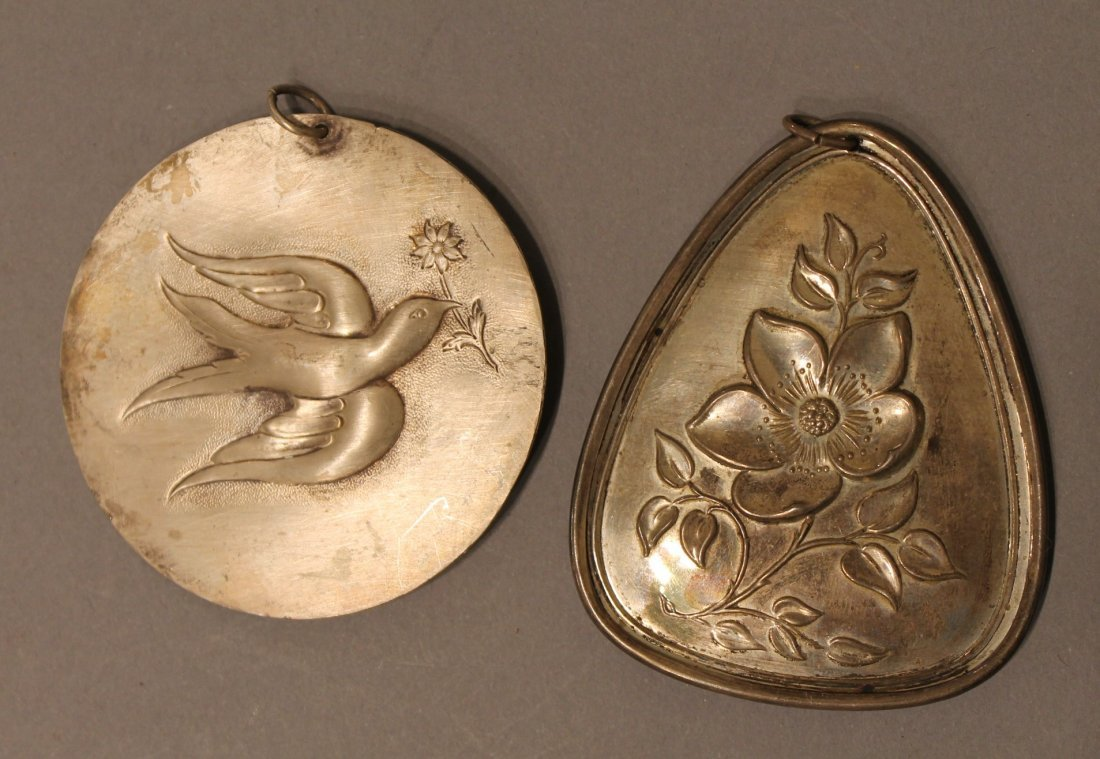 2 Towle Sterling Silver Christmas Ornaments Medallions - 2