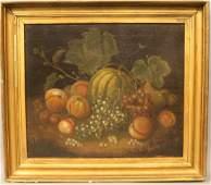 G Gray 1809 O/C Still Life Fruit (George Gray)1758-1819