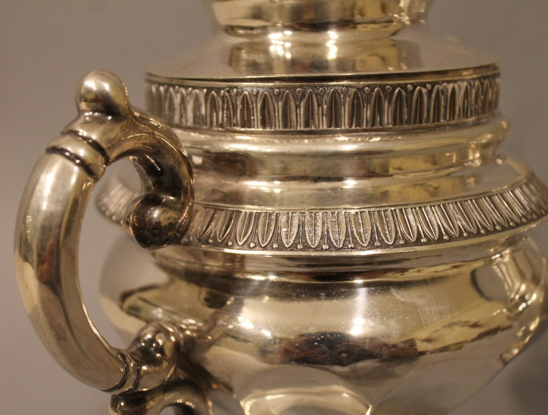 Coin Silver Tea Service G Byce, NYC 77.39 ozt - 4