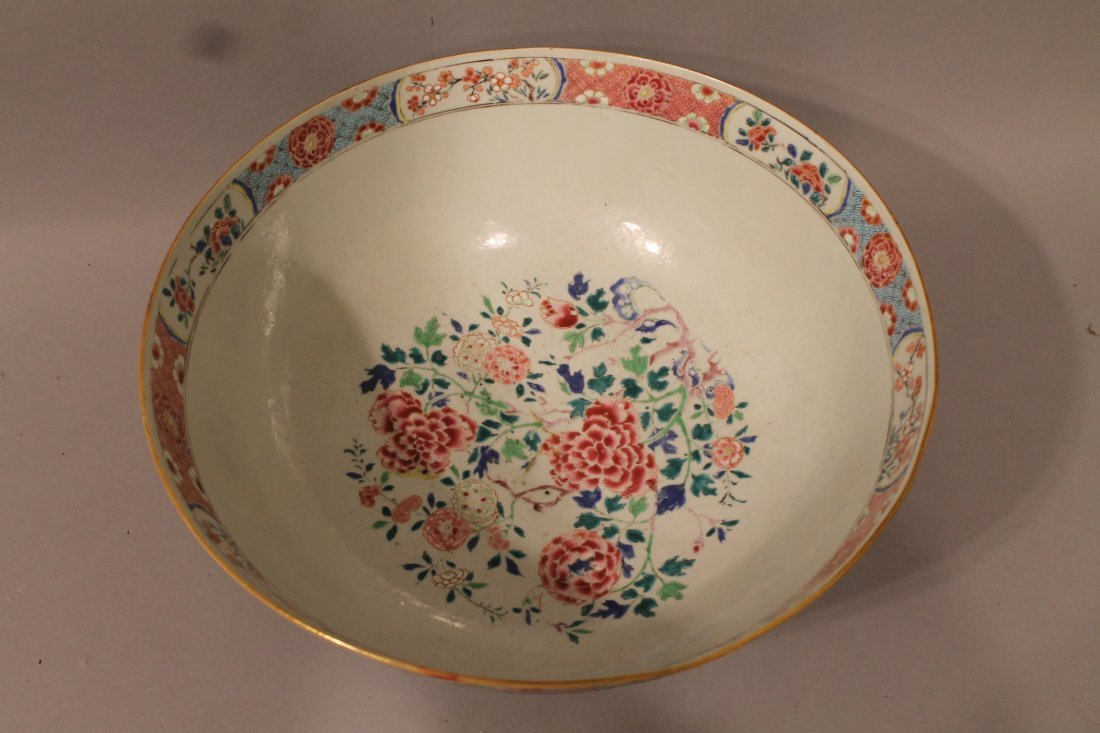 Large Chinese Center Bowl with Floral Motif - 2