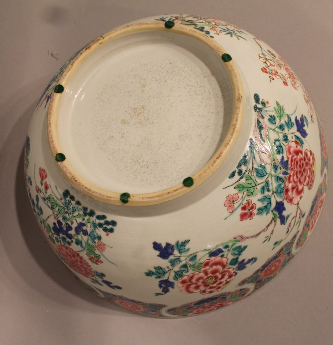 Large Chinese Center Bowl with Floral Motif - 3