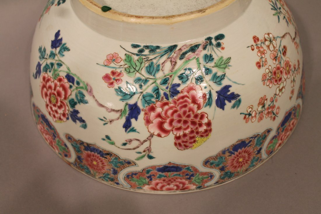 Large Chinese Center Bowl with Floral Motif - 4