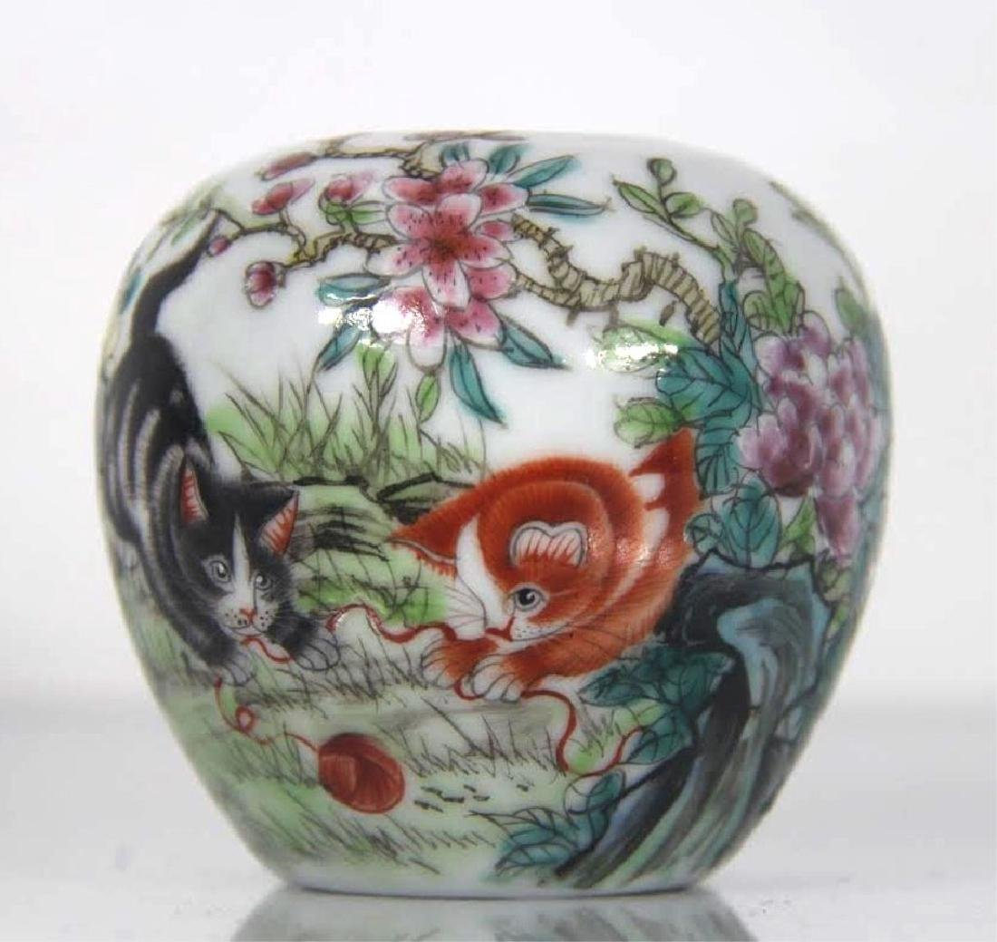 Late qing dynasty chinese famille rose procelain brush