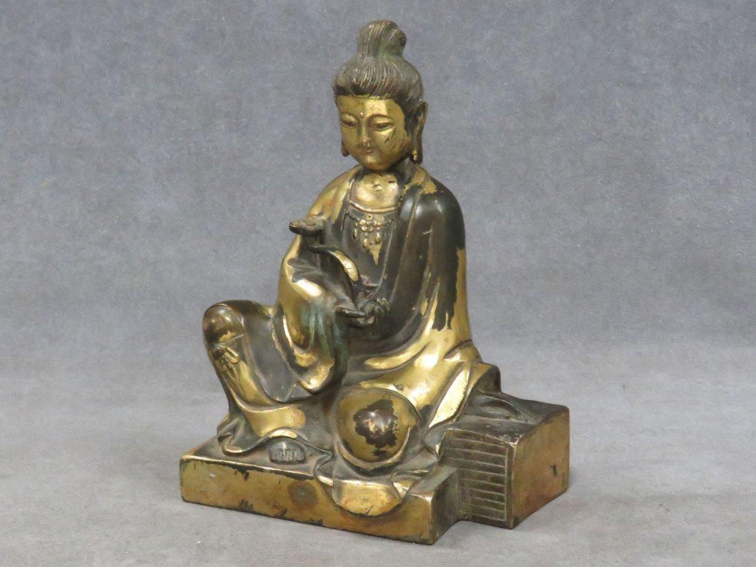 Chinese parcel gilt Buddha