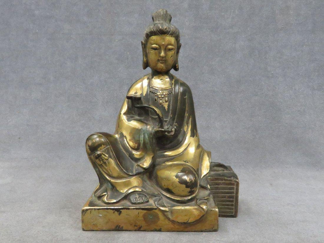 Chinese parcel gilt Buddha - 2