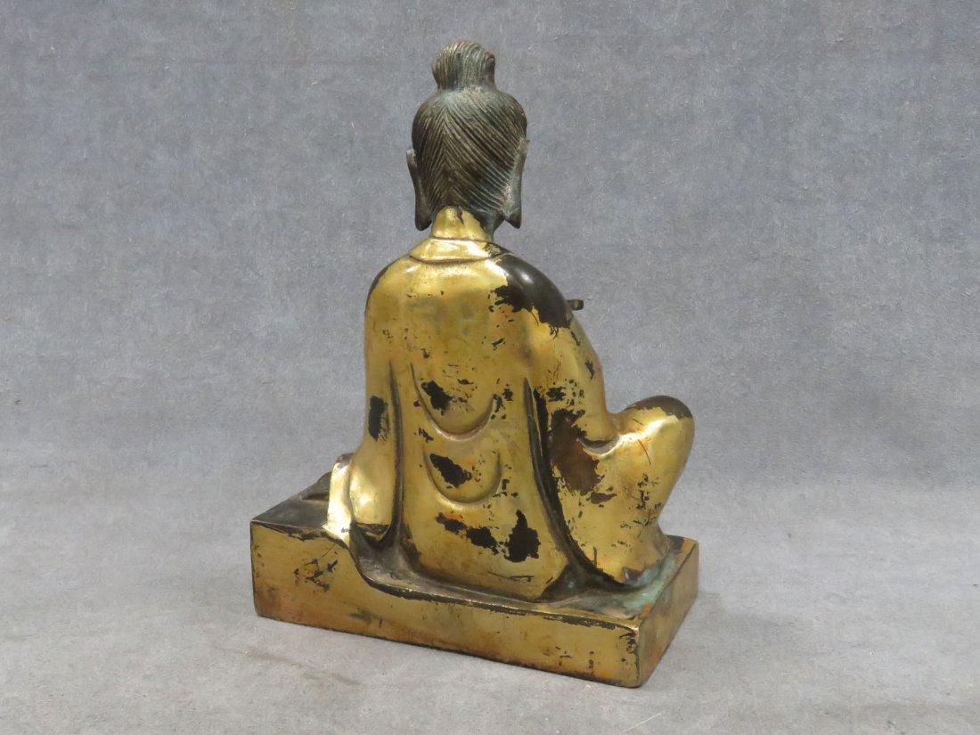Chinese parcel gilt Buddha - 3