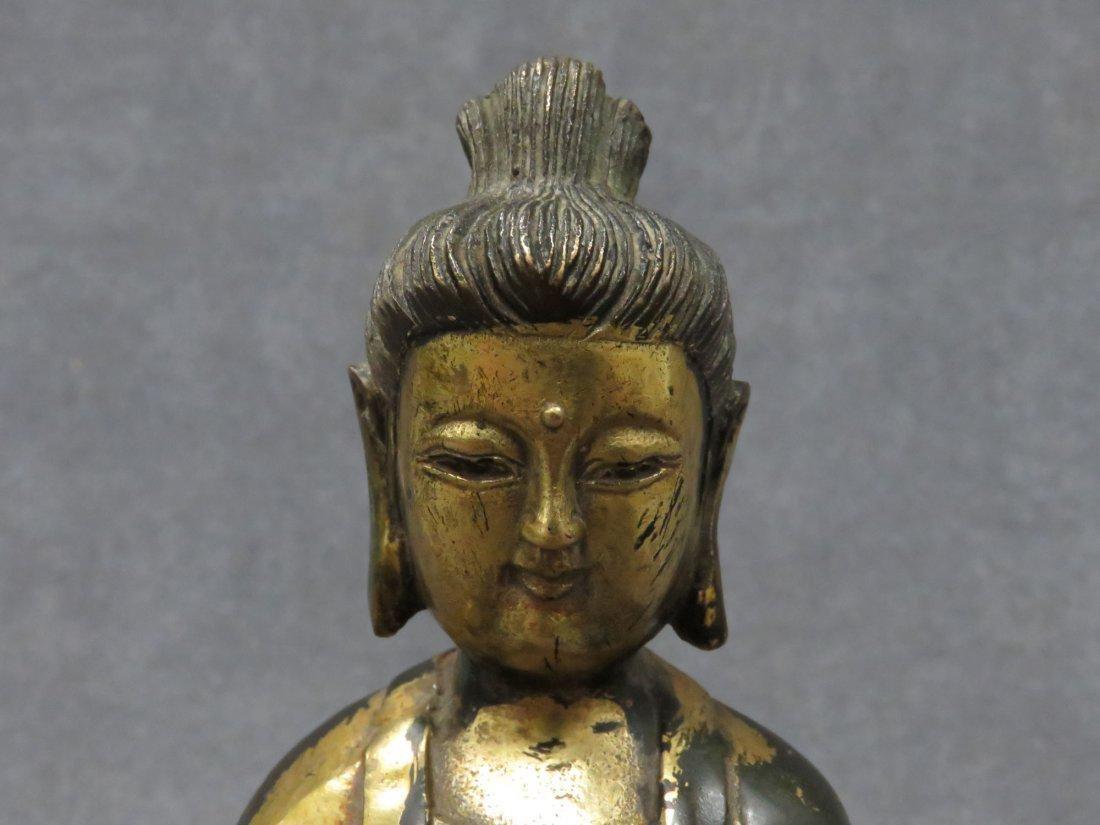 Chinese parcel gilt Buddha - 4
