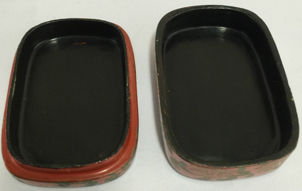 Chinese Cinnabar Lacquer Round Box - 2