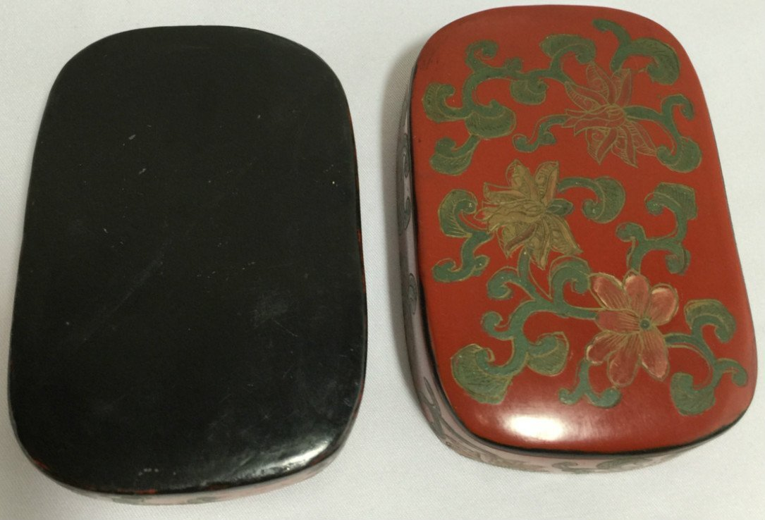 Chinese Cinnabar Lacquer Round Box - 3