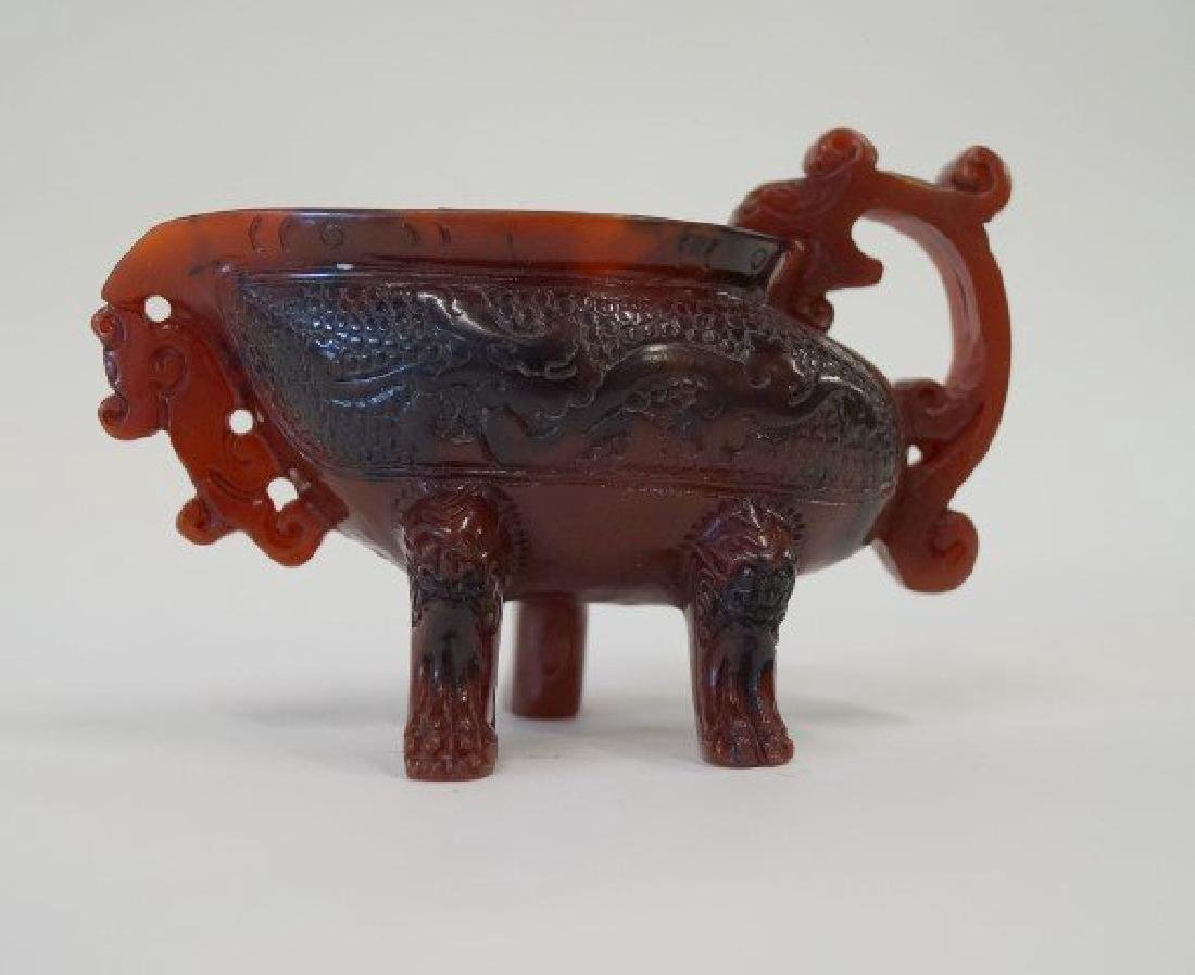 Chinese amber cup