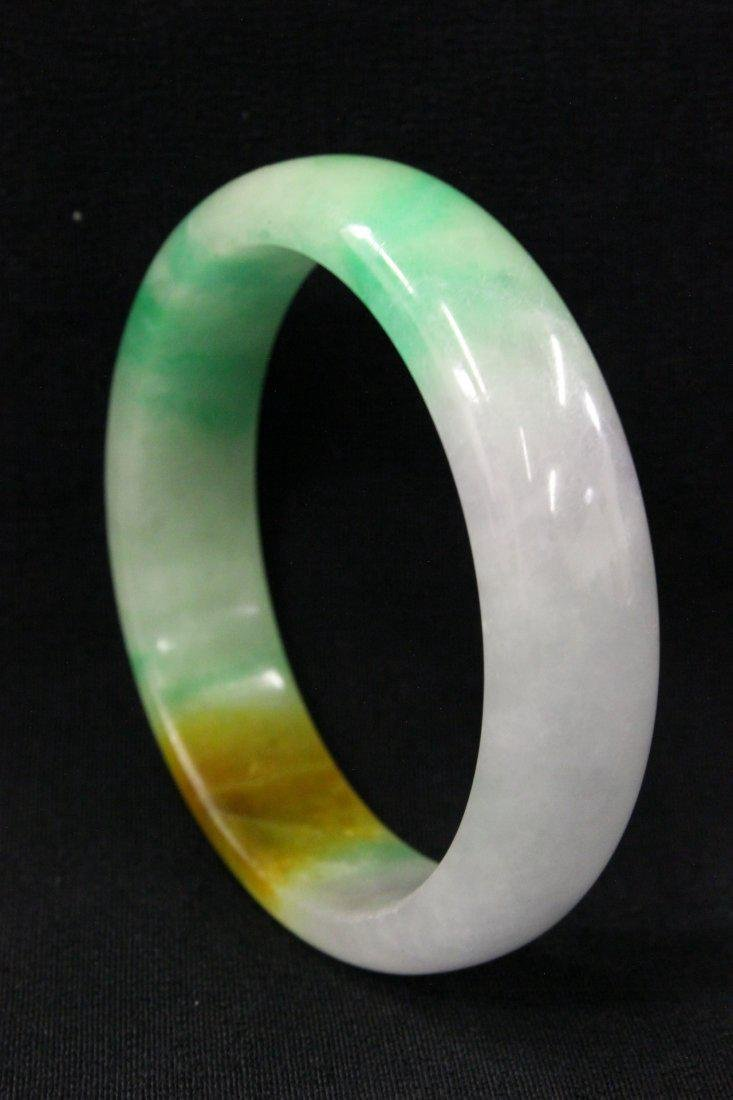 Chinese lavender and apple green jadeite bracelet